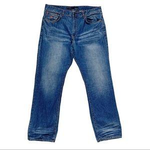Rocawear Original Fit Distressed Jeans, 38 x 34